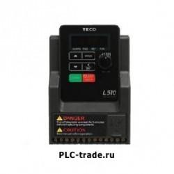 TECO AC частотный преобразователь L510 L510-201-H1-N 1HP 750W 200V~240V 50/60Hz