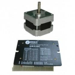 Leadshine NEMA16 39mm 31.2oz-in 0.22N.M 18-30VDC шаговый двигатель + драйвер 39HS02+ DM320C