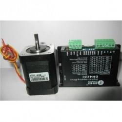 Leadshine NEMA17 42mm 101oz-in 0.71N.M 18-40VDC шаговый двигатель + драйвер 42HS08+DM422C
