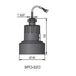 Ультразвуковой датчик уровня жидкости HSPA-320-4 Nivelco HSPA3204