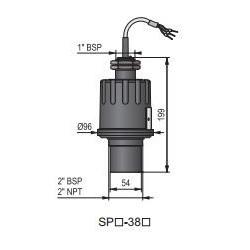 Ультразвуковой датчик уровня жидкости HSPA-380-4 Nivelco HSPA3804
