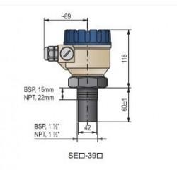 Ультразвуковой датчик уровня жидкости HSGA-39N-2 Nivelco HSGA39N2