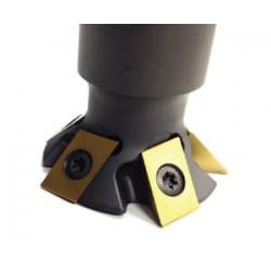 DC1750 5th Axis Inc. - фреза с пластинами / для обработки поверхности / с скругленным хвостовиком / для закаленной стали