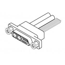 коннектор для передачи данных /  Airborn - коннектор для передачи данных / Quadrax / микро-D / прямоугольный