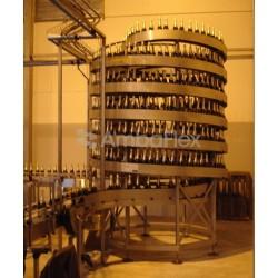 конвейер с фартуком / накопитель AmbaFlex Spiral Conveyor Solutions - конвейер с фартуком / накопительный / спиральный / горизон