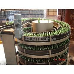 ленточный конвейер / для бутылок AmbaFlex Spiral Conveyor Solutions - ленточный конвейер / для бутылок / для бидонов / для подъе