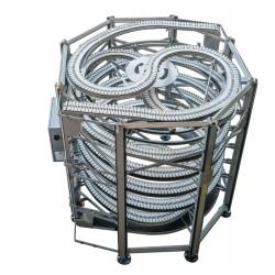 спиральный конвейер / с фартуком AmbaFlex Spiral Conveyor Solutions - спиральный конвейер / с фартуком / для пакетов / для бидон