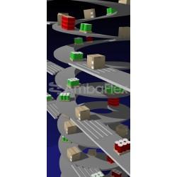 ленточный конвейер / с нескольки AmbaFlex Spiral Conveyor Solutions - ленточный конвейер / с несколькими входами / спиральный