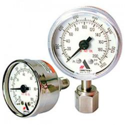 аналоговый манометр / с трубкой  AMETEK PMT Products - аналоговый манометр / с трубкой Бурдона / для газа / для вакуума